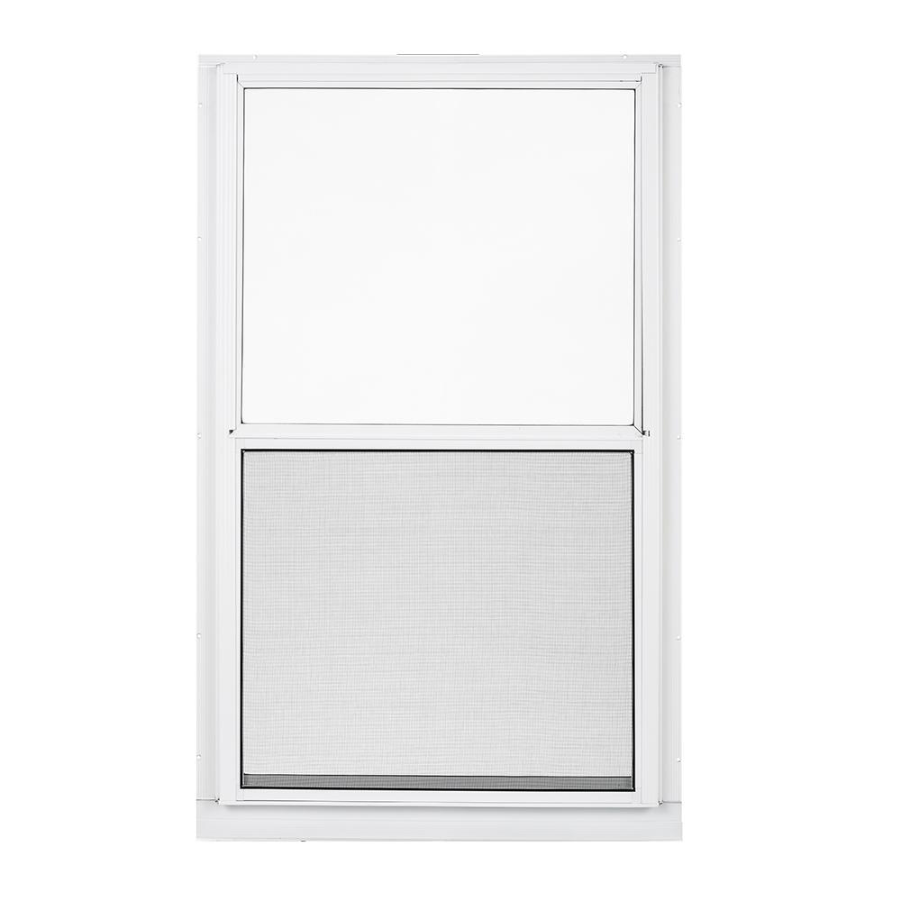 Larson 32 In X 51 In 2 Track Double Hung Aluminum Storm Window L20133251es Fiberglass Screen Windows Vinyl Frames