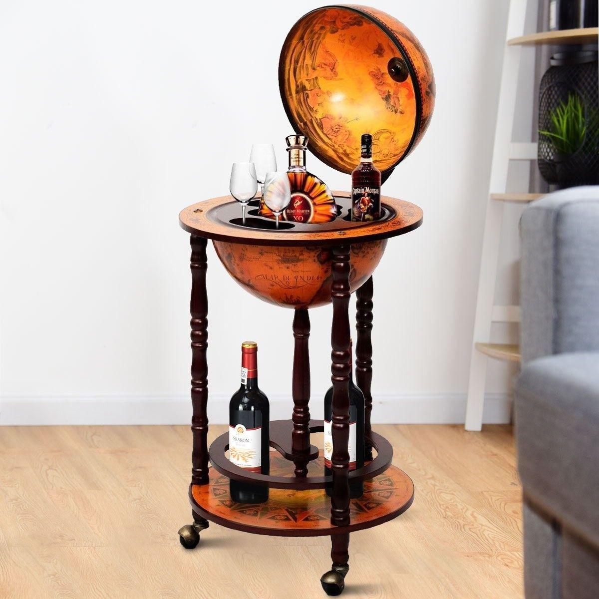 Vintage Globe Wine Stand Bottle Rack Wine Stand Bottle Rack