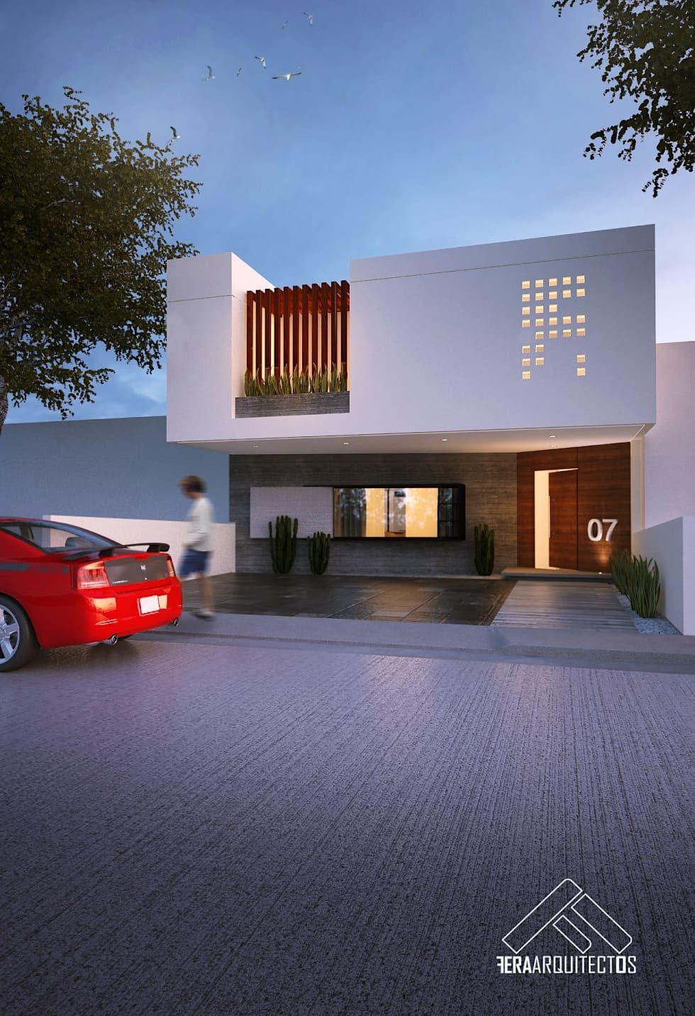 Fachada principal casas de estilo por feraarquitectos en for Foto casa minimalista