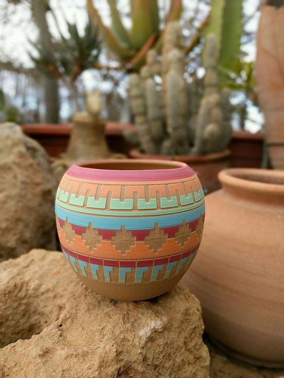 Bohemian Colorful Planter Ceramic Planter Succulent