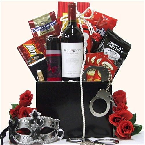Romantic gift basket bridal shower gift ideas pinterest romantic gift basket sciox Image collections