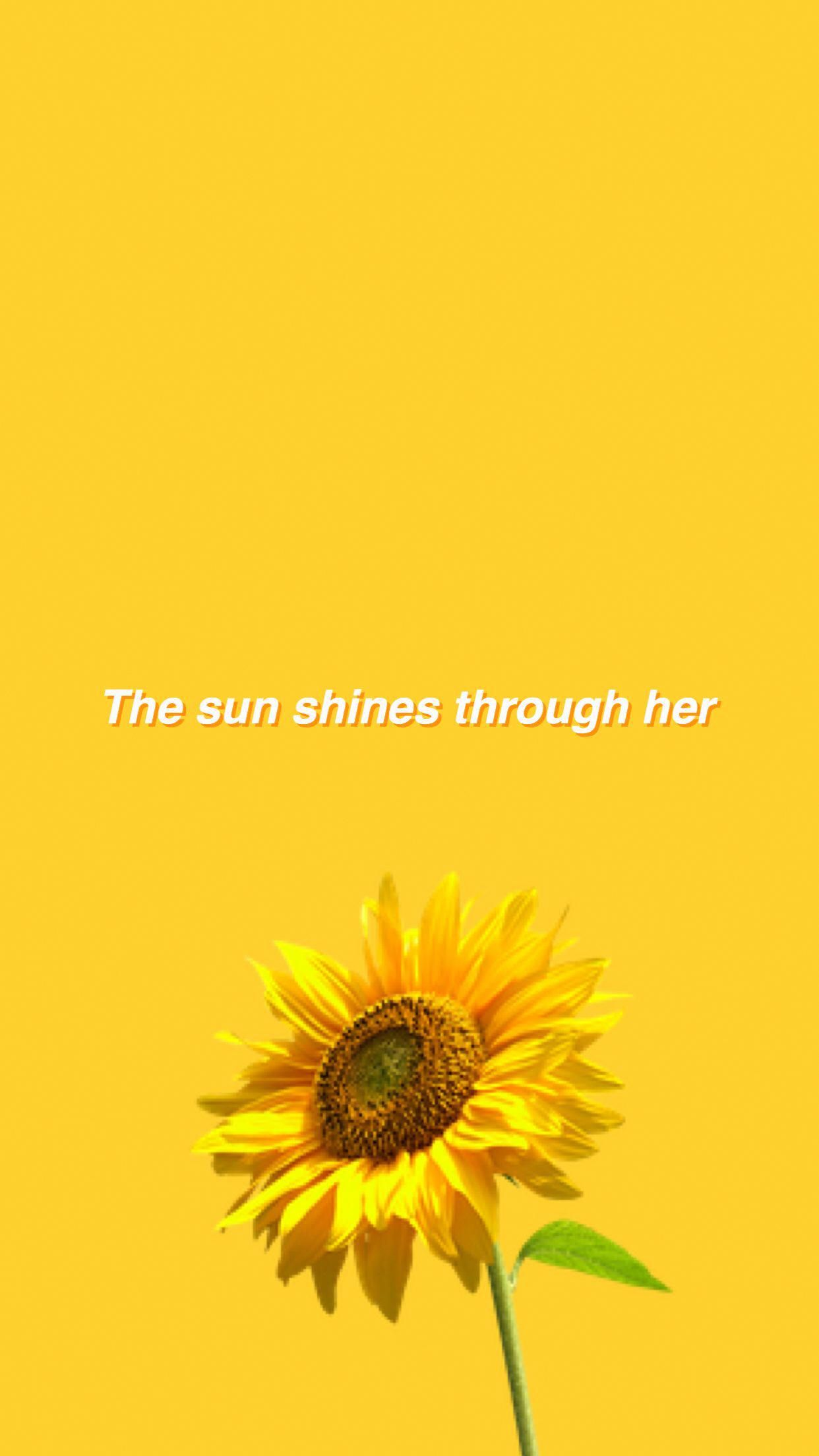 Flower Aesthetic Yellow Wallpaper Yellow Background 2 Quotes