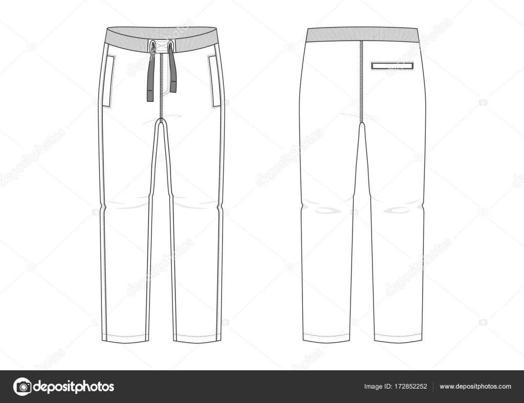Resultado De Imagen Para Silueta De Pantalon Para Colorear Pantalon Para Colorear Pantalonetas Hombre Pantalones