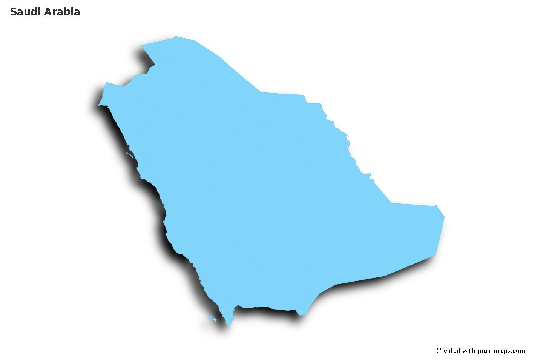 Sample Maps For Saudi Arabia Blue Outline Shadowy In 2021 Map Saudi Arabia Map Maker