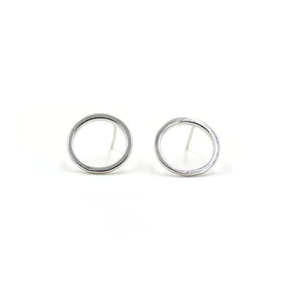 Circle Earrings, Round Earrings
