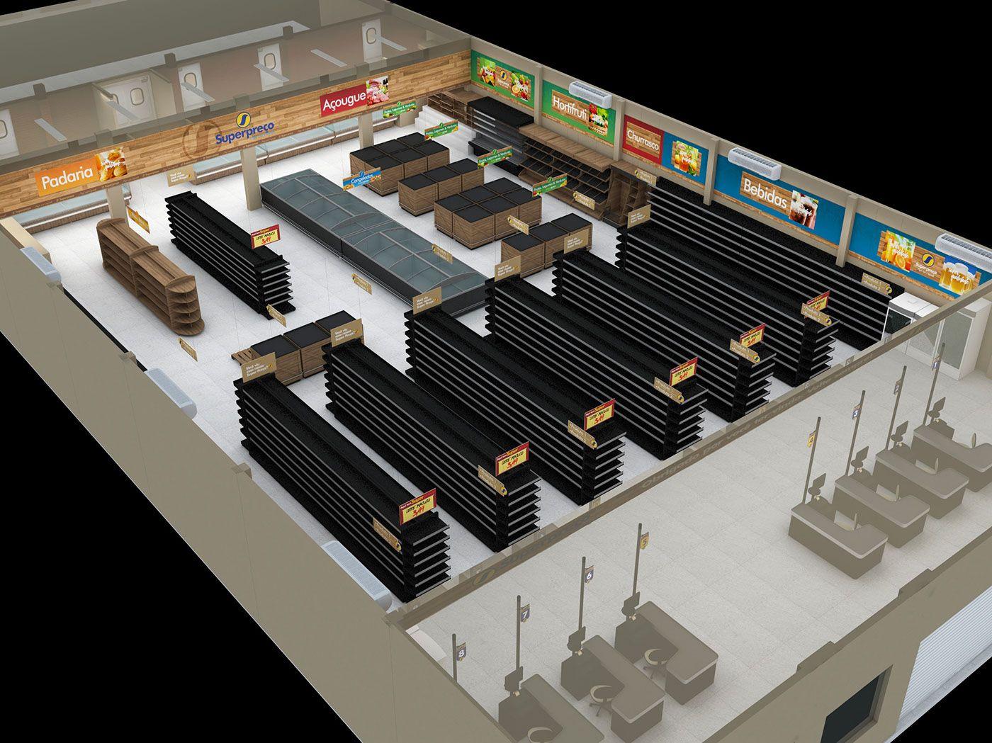 Super Preço Supermarket Signage and Facade on Behance