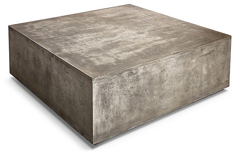Block 47 coffee table gray concrete stone coffee