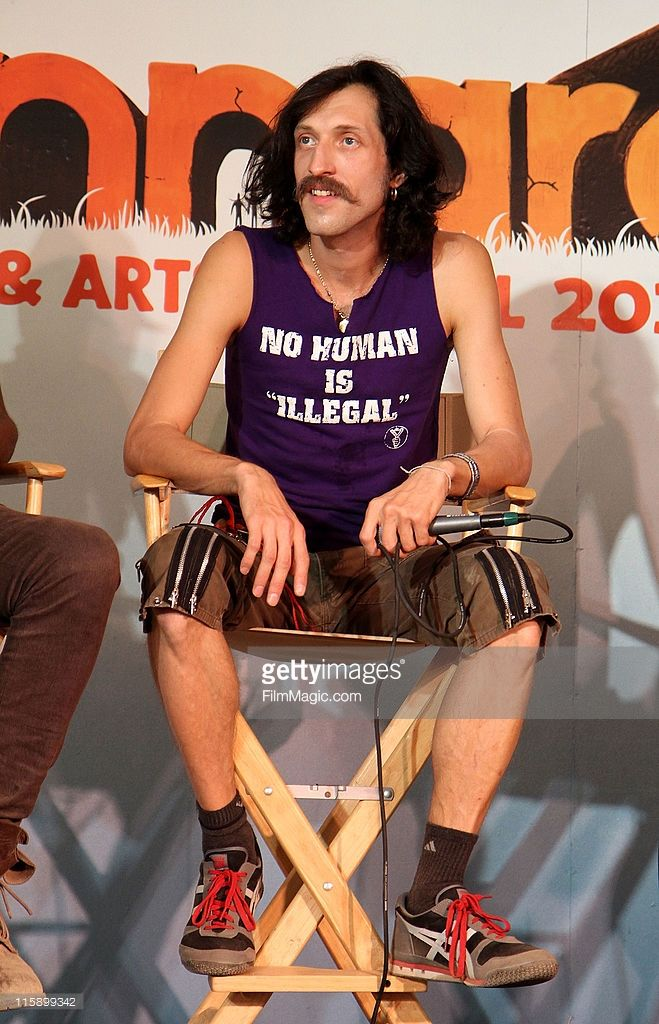 Eugene Hutz of Gogol Bordello during Bonnaroo 2011 on June 11, 2011 in Manchester, Tennessee.