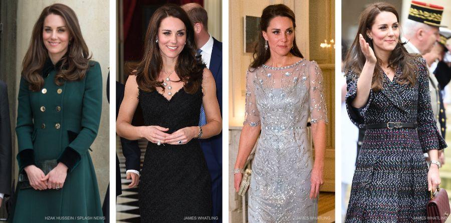Kate Middleton visiting Paris