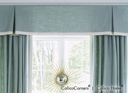 Kick Pleat Valance From The Heirloom Fabric Collection Window