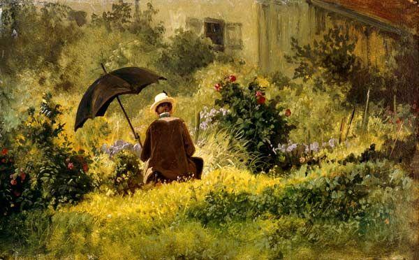 Charmant Carl Spitzweg Der Maler Im Garten 1870 22 X Cm Museum Oskar  Reinhart Am Stadtgarten