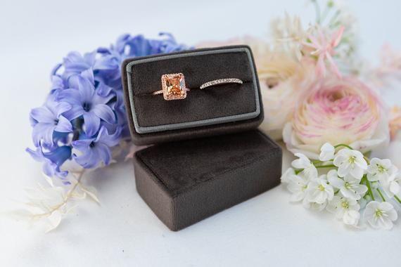 Photo of Velvet ring box – Rectangular ring box – Wedding – Gift – Shadow