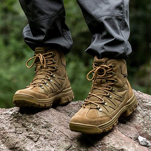 Free Soldier Outdoor Men S Tactical Military Combat Ankle Boots Lightweight Mid Hiking Boots Shoosly Boots Hiking Boots Best Hiking Boots