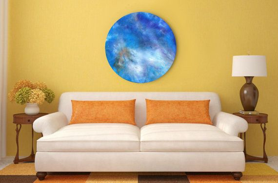 Large abstract artwork, round resin art, modern abstract art, galaxy ...