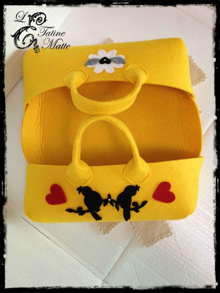 Porta torte in feltro by le tatine matte 15 00 su for Porta kleenex feltro