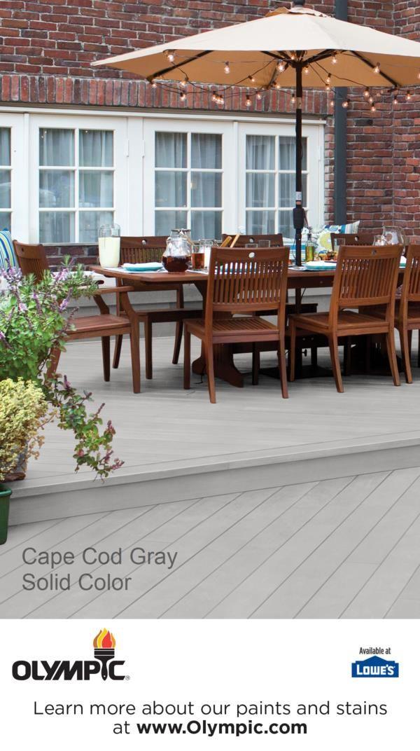 Cape Cod Gray Deck Stain Colors Paint Colors Deck Colors