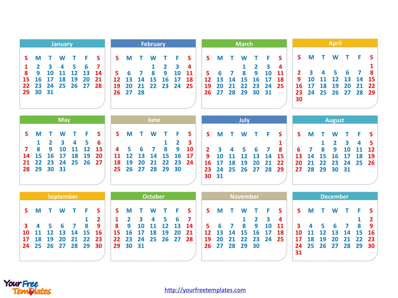 Kindergarten Calendar Powerpoint : Immediately free download printable editable calendar