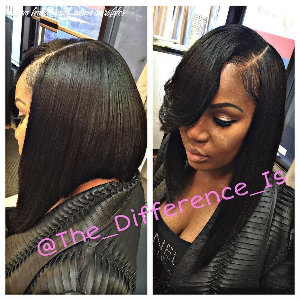 8 Medium Length Quick Weave Hairstyles Quick Weave Hairstyles Weave Bob Hairstyles Weave Hairstyles