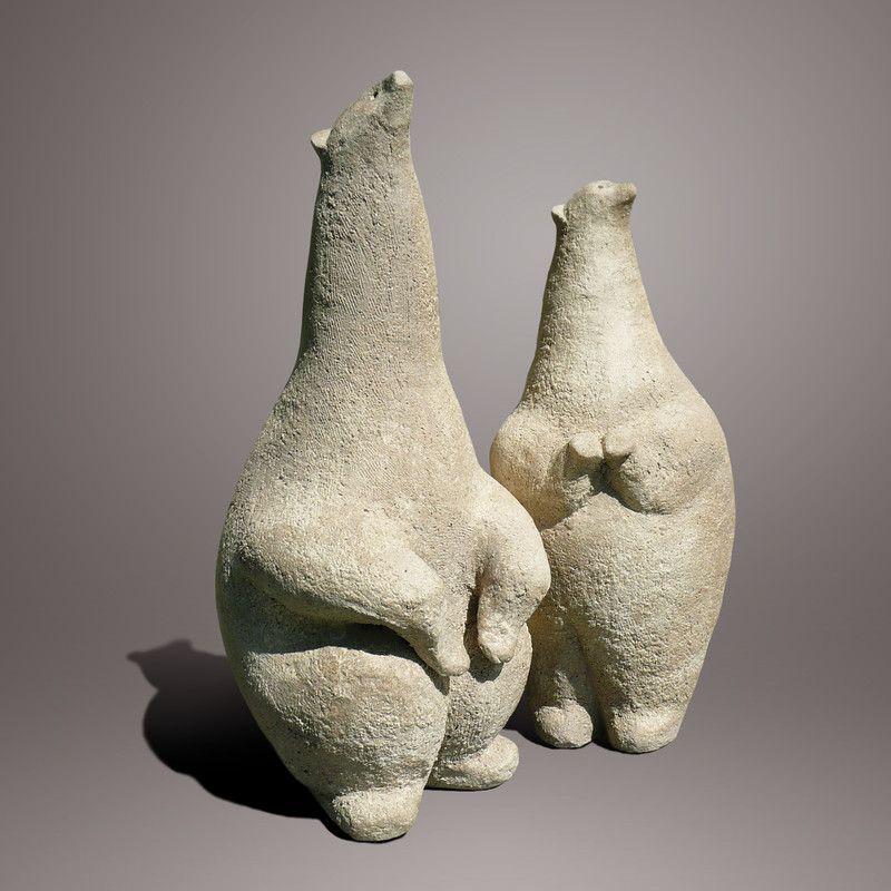 ours blanc scultures pinterest gres poterie et sculpture. Black Bedroom Furniture Sets. Home Design Ideas