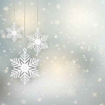 Fondo navide o con copos de nieve y estrellas wallpers for Estrella de nieve