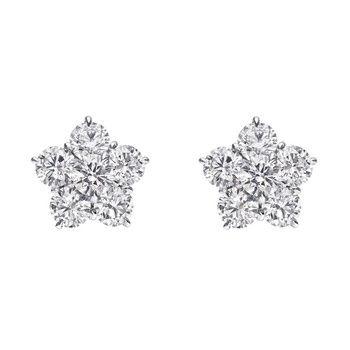 21331f70efaff Betteridge Medium Diamond Flower Cluster Earrings (~3 ct tw ...