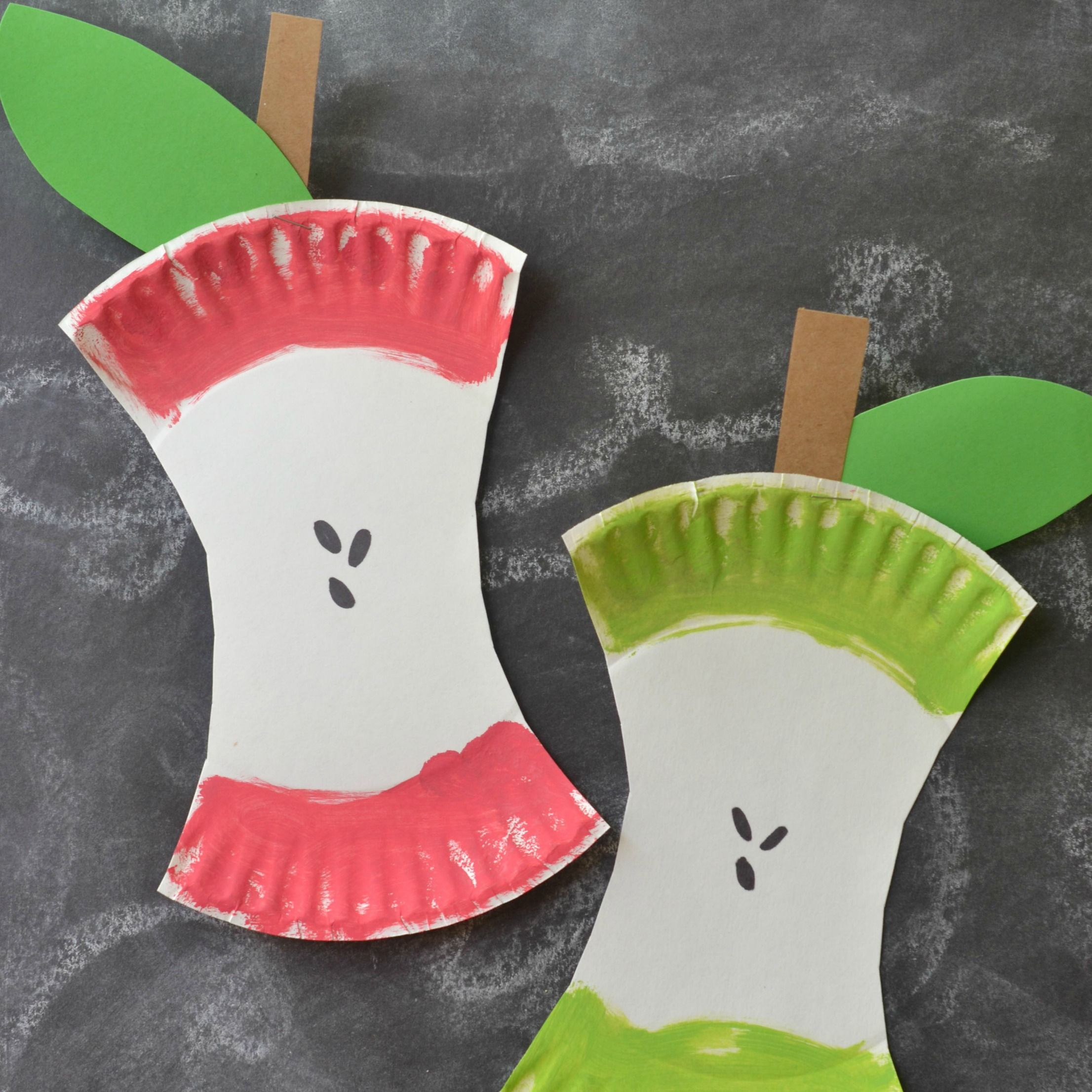Kids Craft Project Paper Plate Apple Core & Kids Craft Project: Paper Plate Apple Core | Kids craft projects ...