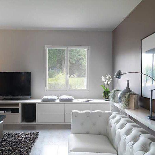 Salon cosy #salon #fenetre #kline_france #aluminium #design #cosy