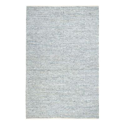 Bungalow Rose Sindibad Hand-Woven Pale Blue/White Area Rug Rug Size: 8' X 10'