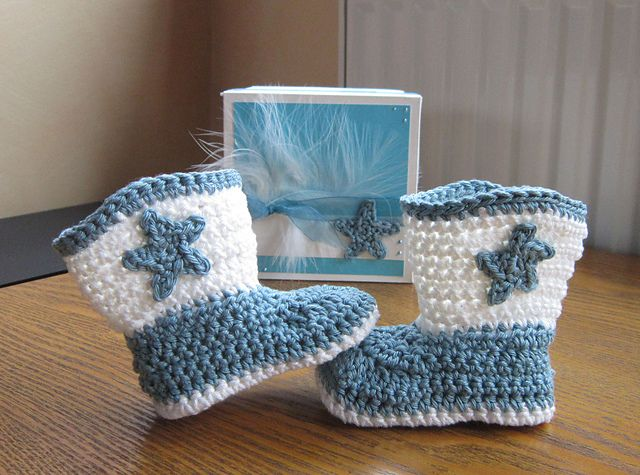 Baby Boot Scootn Boots Pattern By Elizabeth Alan Crochet Cowboy