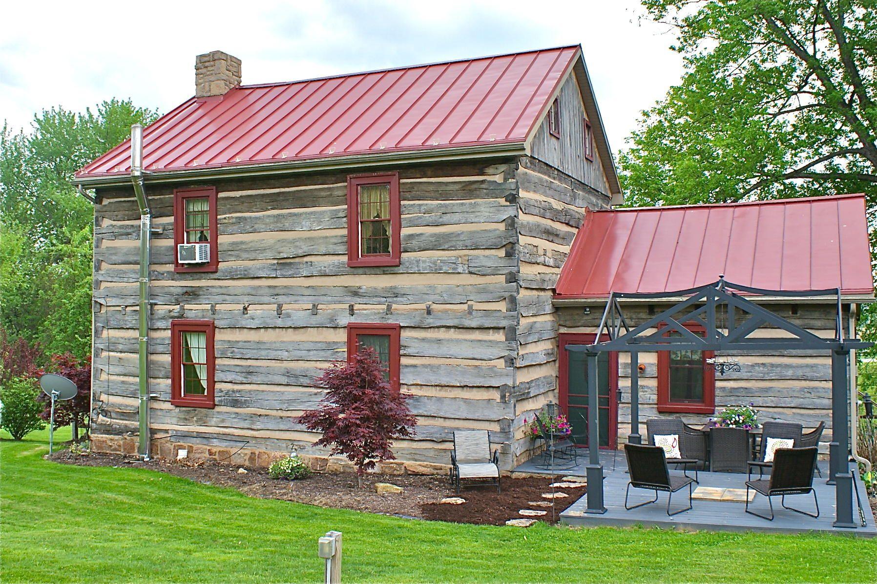 clck to close... Pennsylvania log home Log cabin exterior