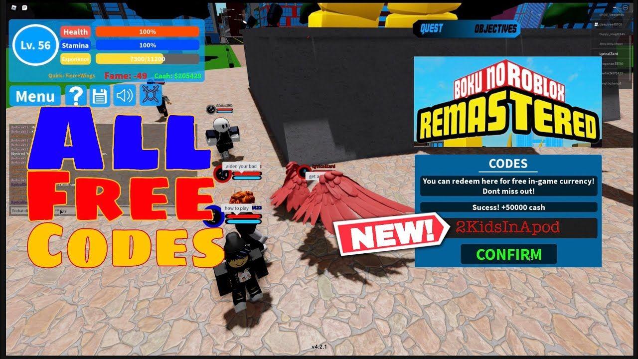Roblox Boku No Roblox New Codes New All Working Free Codes Boku No Roblox Remastered Roblox Gameplay In 2020 Roblox Roblox Gameplay Coding
