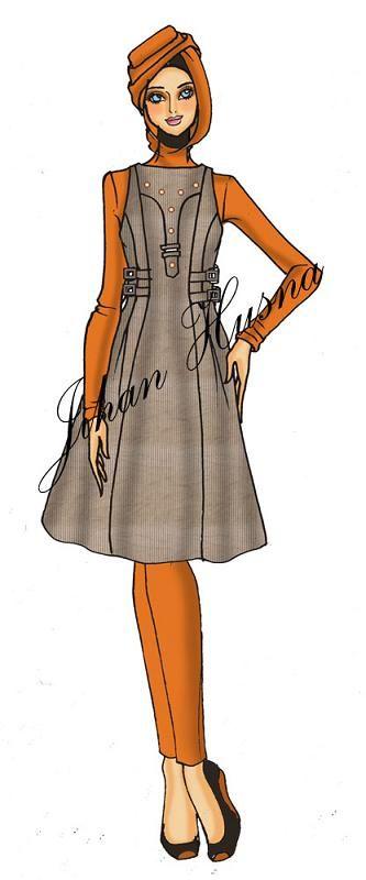 Sketsa Baju Wanita