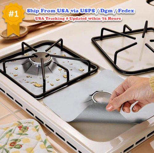 Silver-Gas-Range-Protector-Reusable-Hob-Liner-Stovetop-Cover-Non-Stick-Cooker