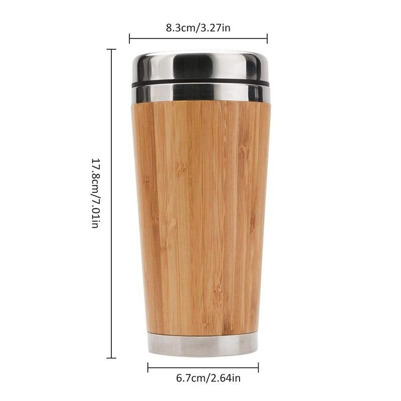 Bamboo & Stainless Steel Travel Mug