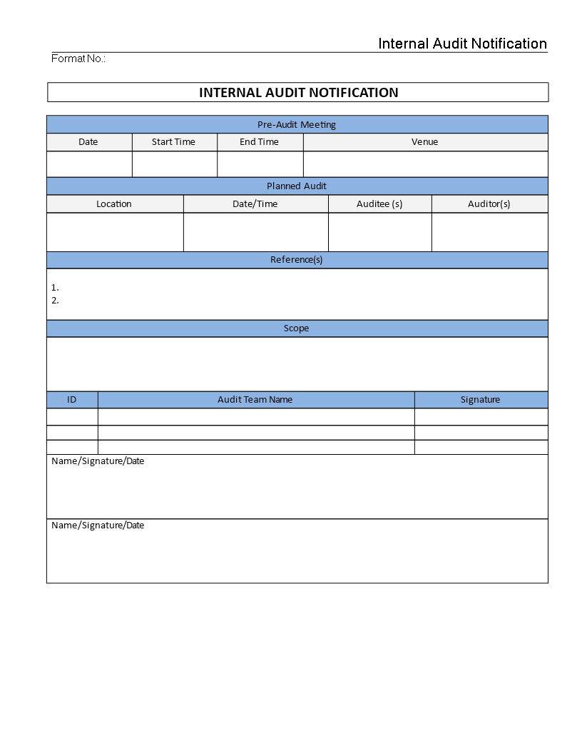 internal audit checklist for manufacturing company