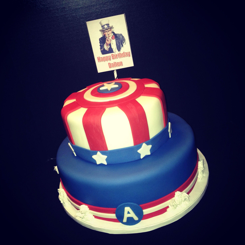 Captain america cake captain america cake cake captain