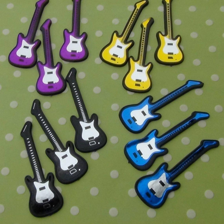 Electric Guitar Cupcake Toppers Lisa Party Cupcakes Guitar