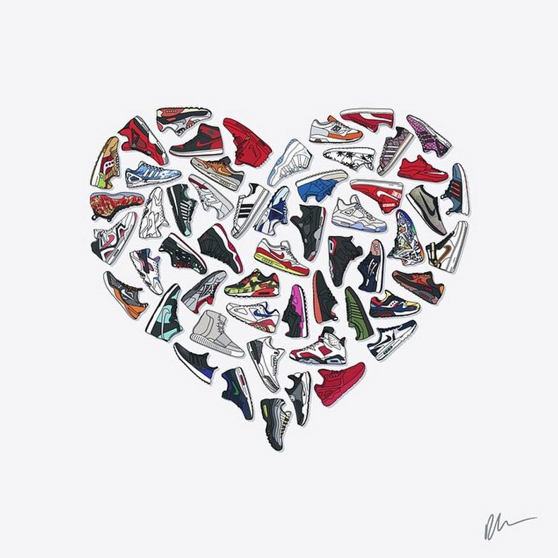 Sneakers Artwork - Poster (©kickposters)