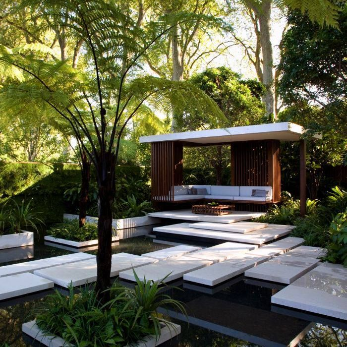 Modern design with a jungle theme gardenstory for Jungle garden design ideas