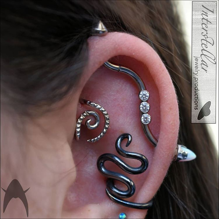 Healed Rook With Interstellarjewelryproductions And Healed 12g