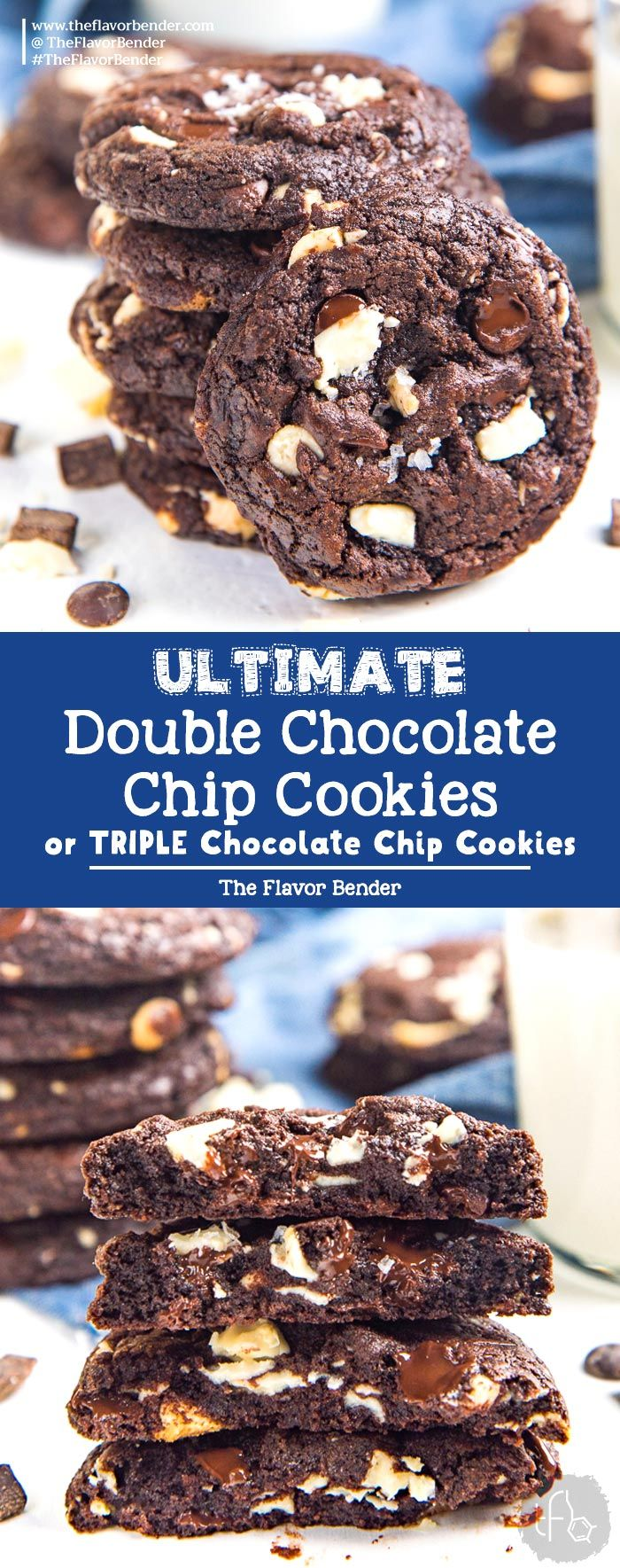 Ultimate Double Chocolate Chip Cookies - The Flavor Bender