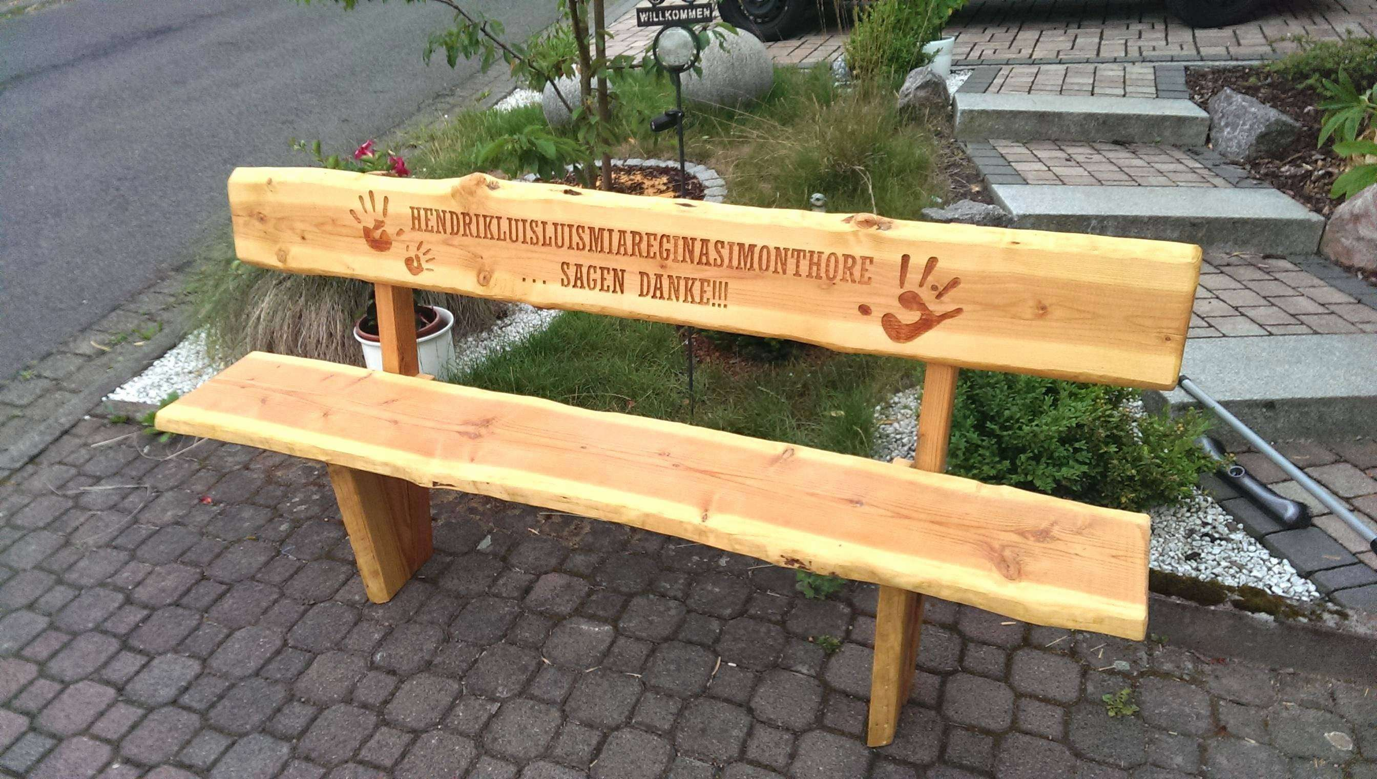 Ideen 42 Zum Rustikale Gartenbank Selber Bauen Holz Gartenbank