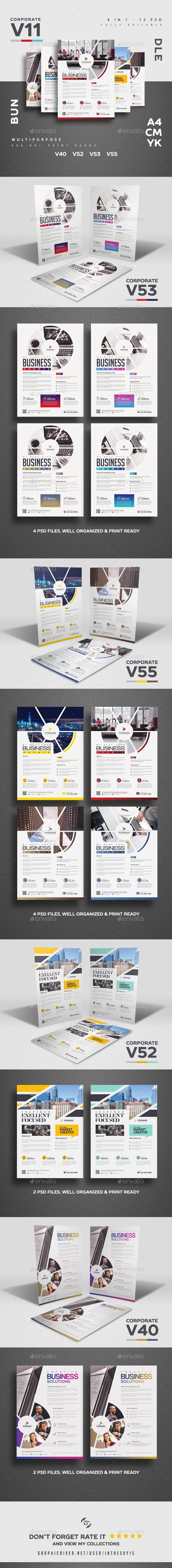 Corporate V11 Flyer Bundle Flyer Template Business Flyer Templates Flyer