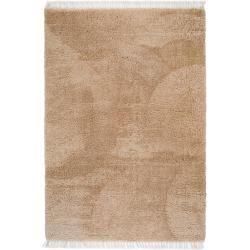 Photo of benuta Hochflor Shaggyteppich Ava Hellbraun 240×340 cm – Langflor Teppich für Wohnzimmer benuta