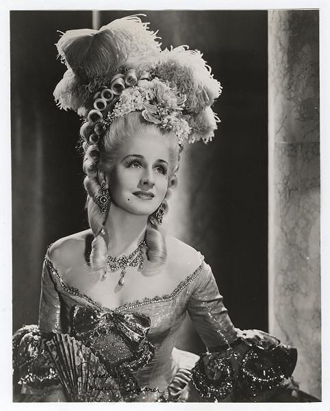 Marie Antoinette (1938) staring Norma Shearer - costumes by  Adrian were exact reproductions  portraits of Marie Antoinette by the Versailles court painter, Madame Vigee Le Brun
