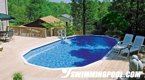 Above Ground Pool with Deck Lounge  ideas for home