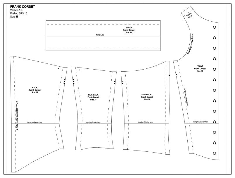 Sweet T Corset Pattern - Why not make it backwards and wear it ...