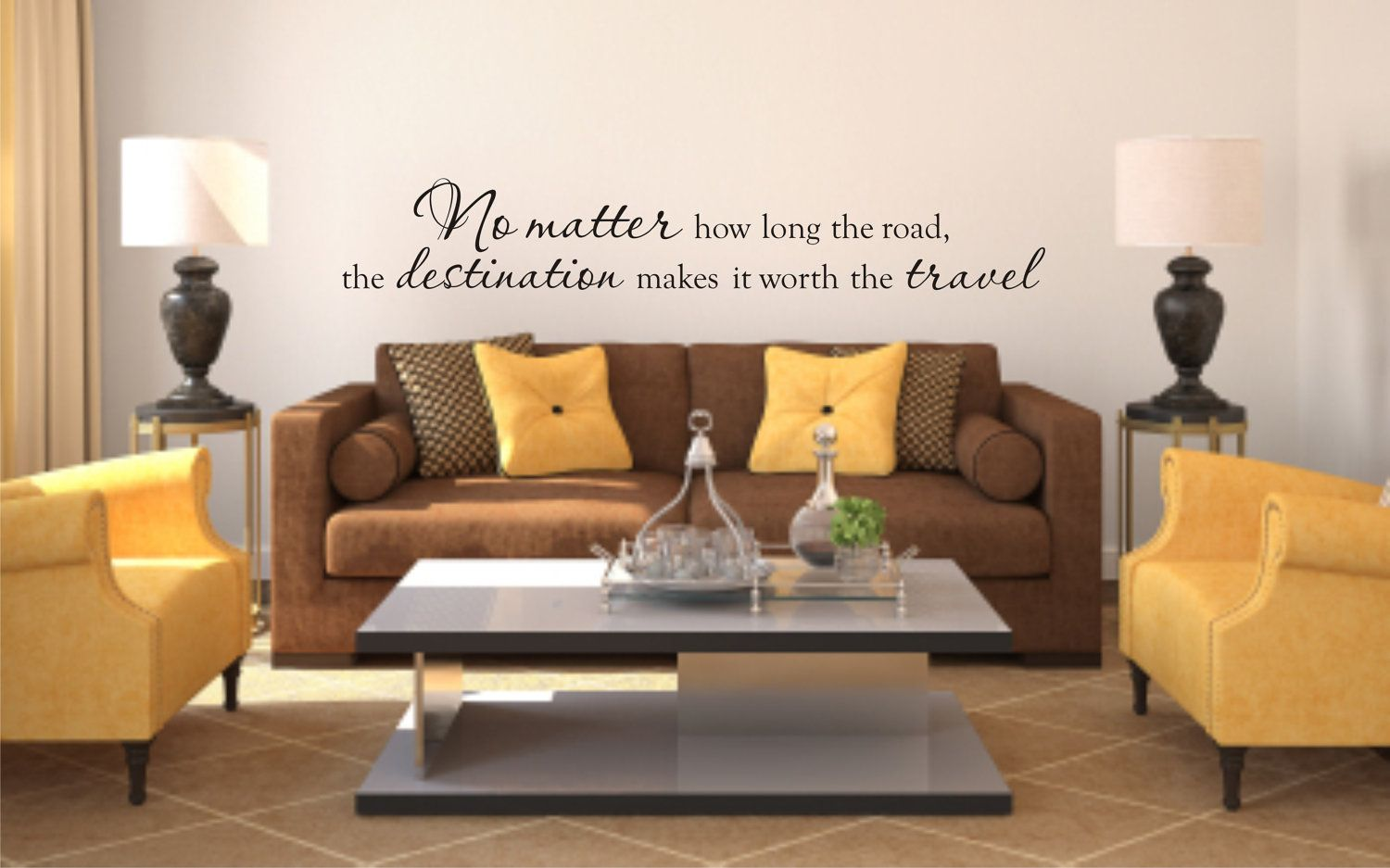 Vinyl wall decal no matter how long the road the destination makes