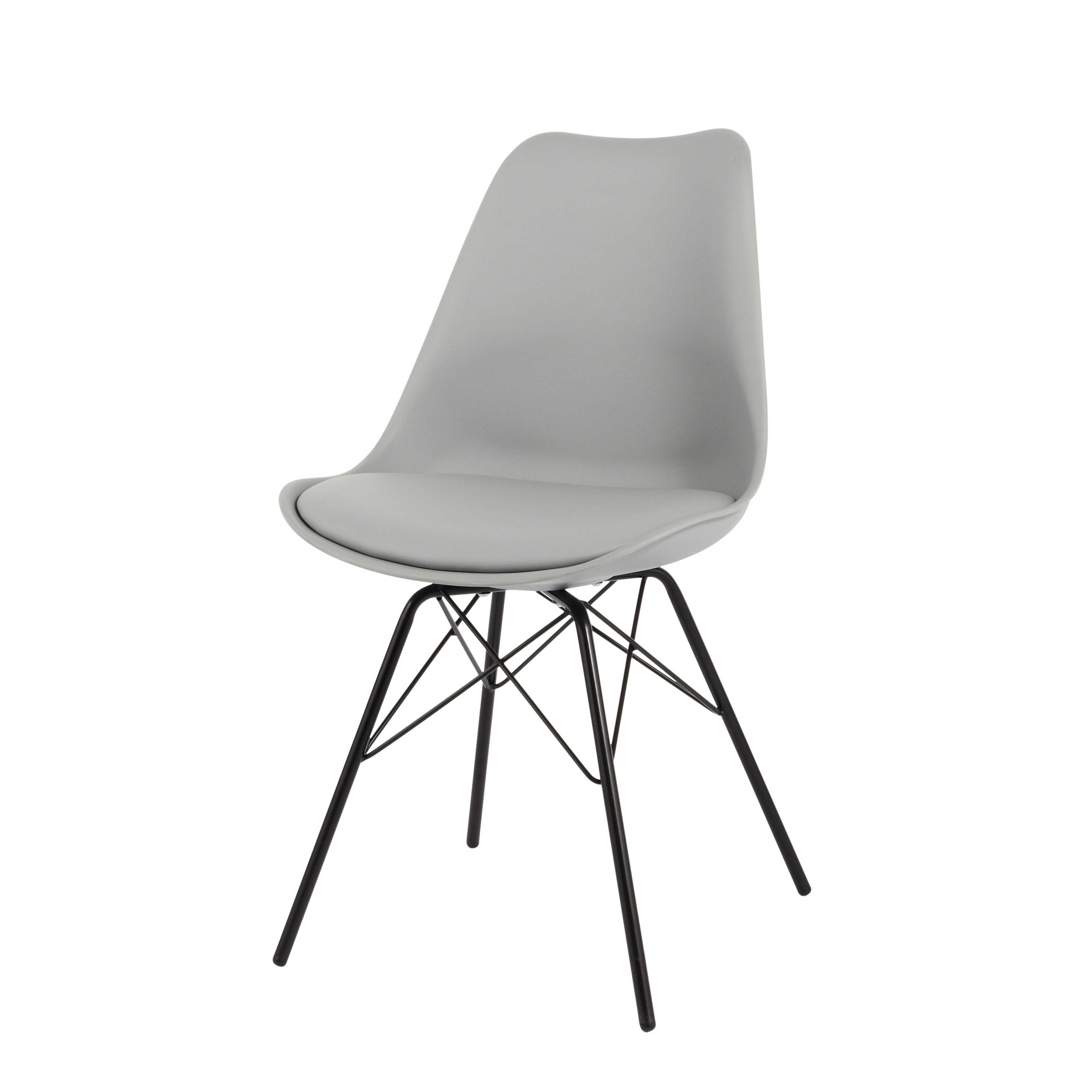 chaise en polypropylne et mtal grise coventry - Chaise Metal