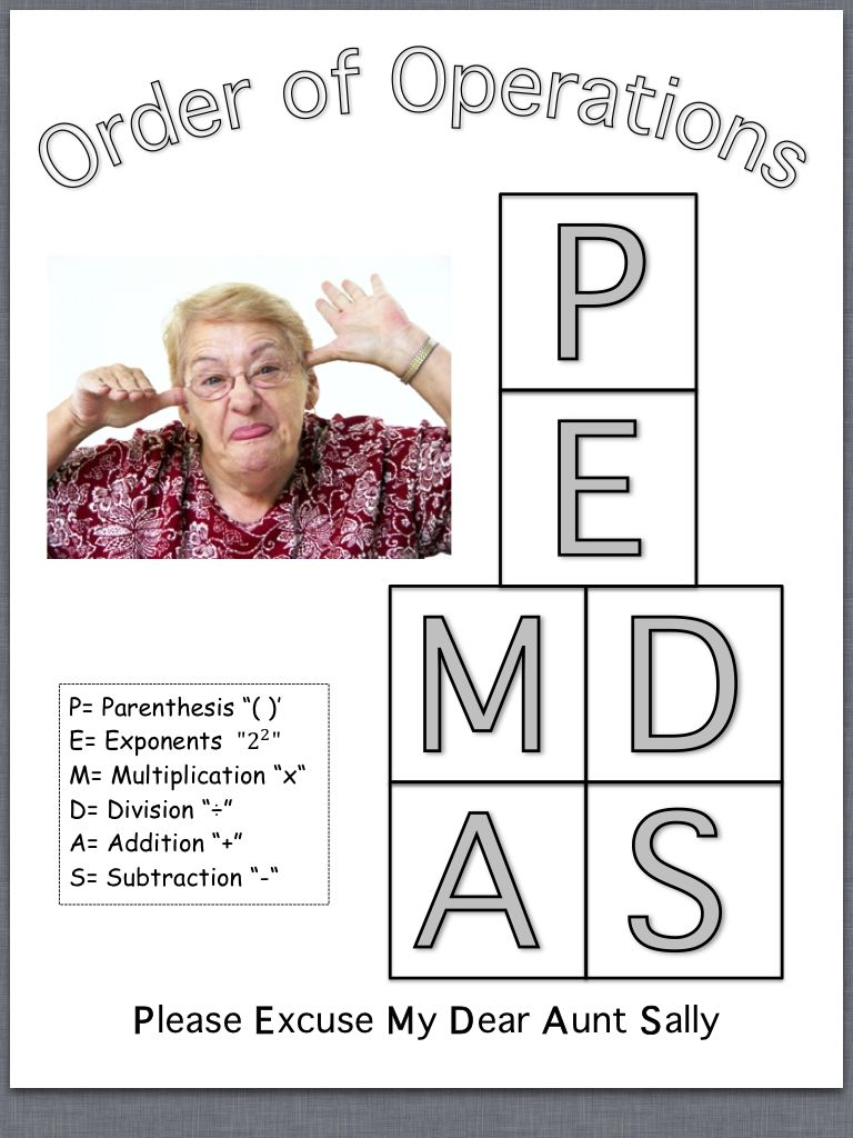 PEMDAS, Order of Operations, Math | school stuff | Pinterest ...